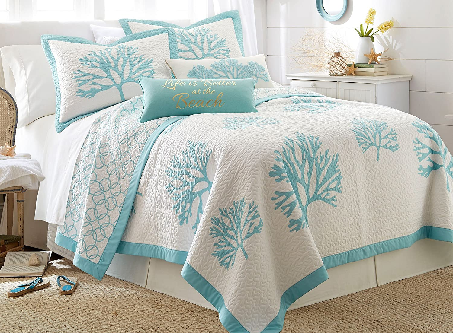 Aqua Bedding Comforter Sets and Quilts Sale – Ease Bedding ...