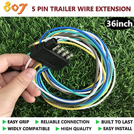 Amazon.com: 807 5-Way Flat Connector,5 pin Flat Trailer Wire ... on