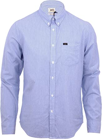 Lee - Camisa de vestir - para hombre Azul azul small: Amazon.es: Ropa y accesorios