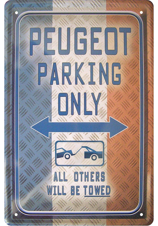 """'""""Peugeot Parking Only Décoration Plaque de Tin Sign"""