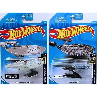 Hot Wheels 2020 HW Screen Time - Star Trek U.S.S. Enterprise NCC-1701 & U.S.S. Vengeance: Toys & Games