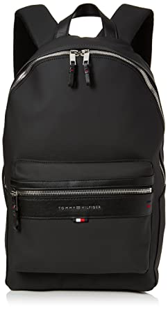 b39b4d3876a Tommy Hilfiger Elevated Backpack Cc, Men s Backpack, Black (Tommy Navy Core  Stp
