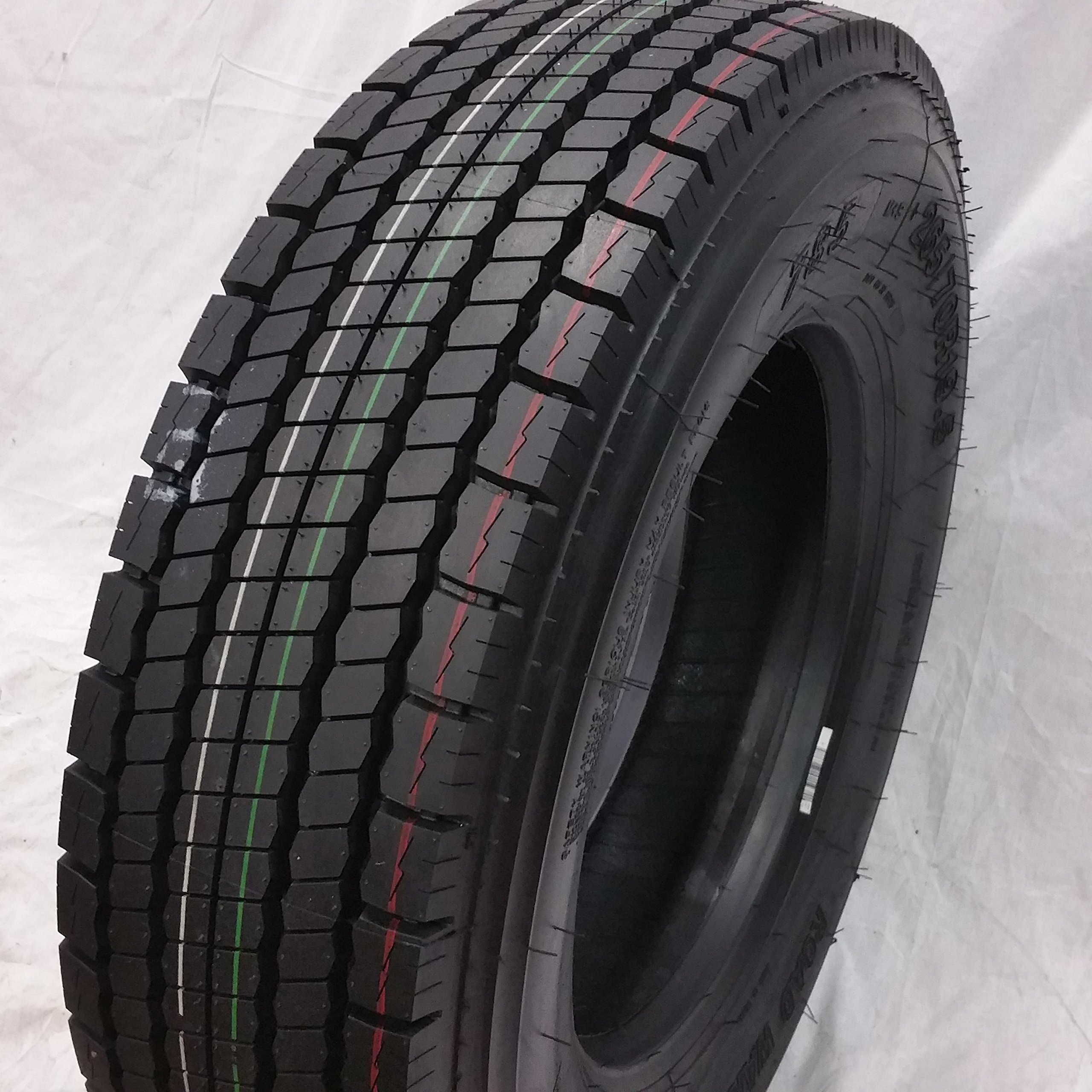 (1-TIRE) 245/70R19.5 H/16 NEW ROAD WARRIOR DRIVE ALL POSITION TIRES 16 PLY 24570195