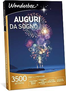 WONDERBOX Cofanetto Regalo - Auguri da Sogno - 3500 attività per 1 O 2 Persone