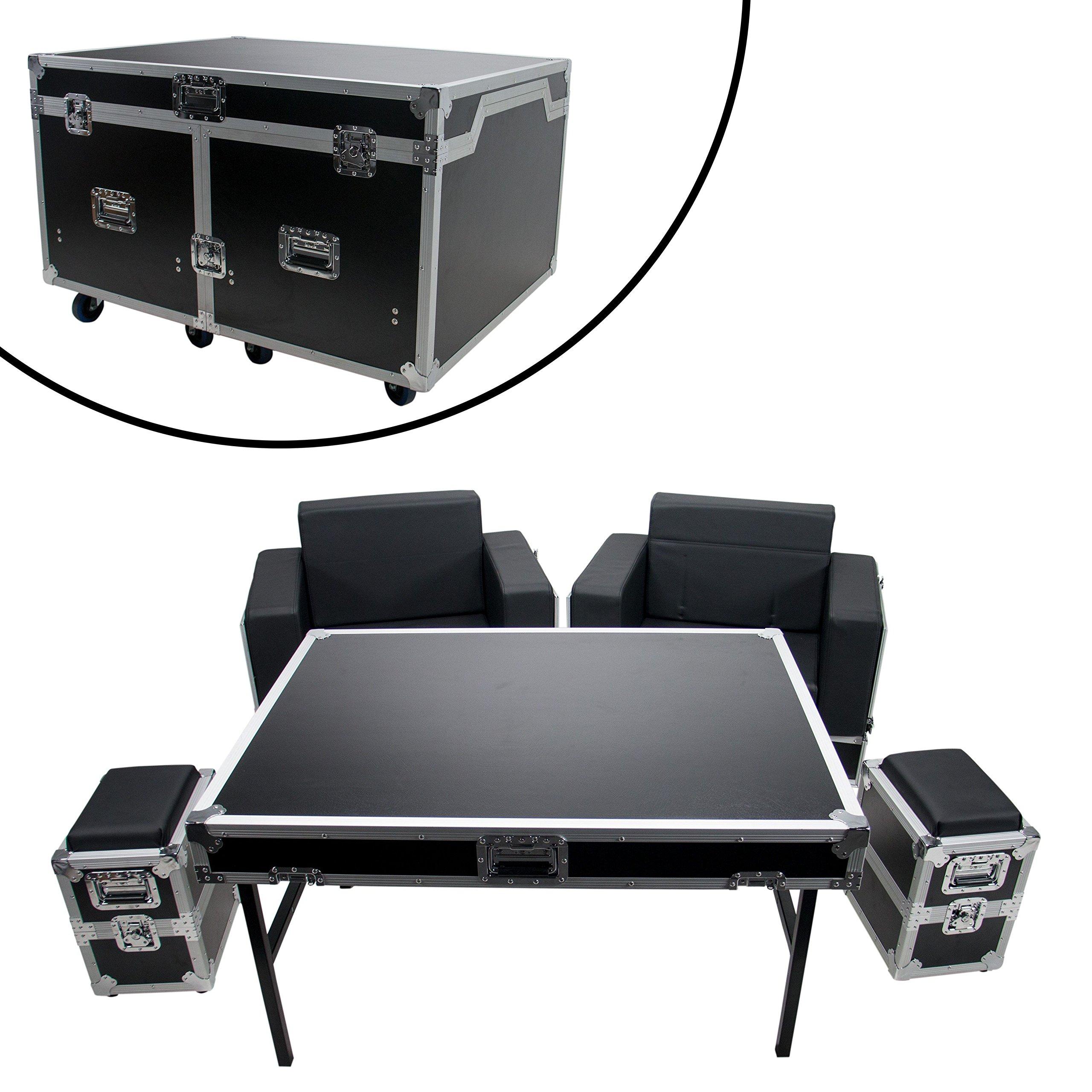 OSP ATA-GR-SET1-BLK Cases Green Room Furniture Set, Black