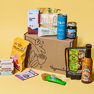 Vegancuts Vegan Variety Snack Subscription Box - Fresh plant based and original snacks are vegan certified and make a great gift