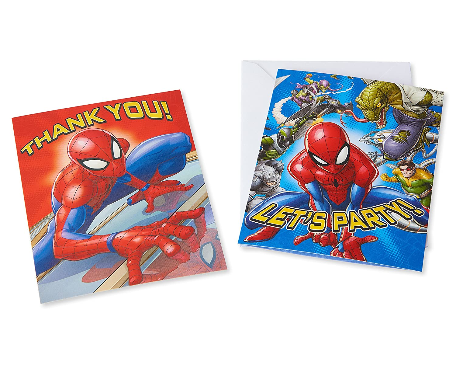 American Greetings Spider Man 8 Count Invite And Thank You Combo