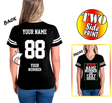 Amazoncom Custom Cotton Jerseys For Women Make Your Own Jersey T