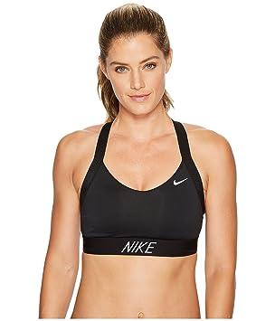 Nike Pro Indy Logo Back Sujetador Deportivo, Mujer, (Negro/Blanco), XS: Amazon.es: Deportes y aire libre