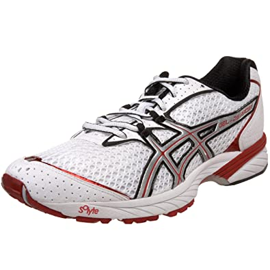 687e7238888b2 ASICS Men s Gel DS Racer 8 Running Shoe White Lightning Red G910N0193 ...