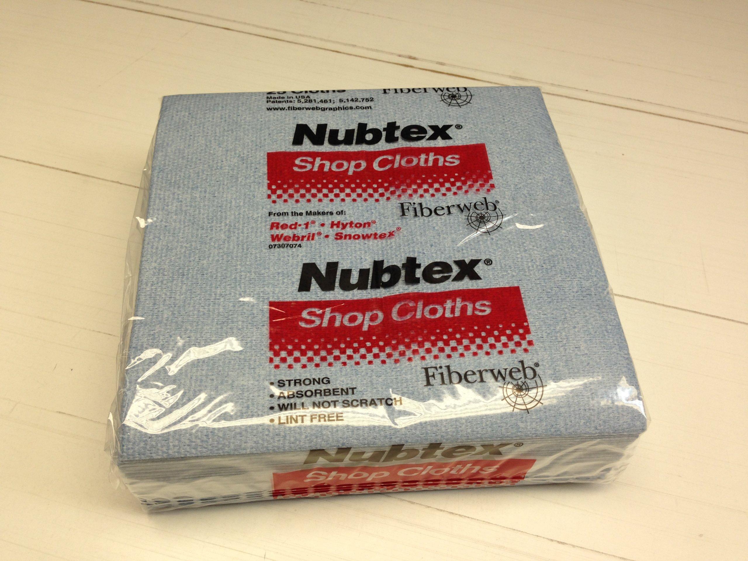 Nubtex 617 Wipes 16'' x 17'' Large Shop Cloths (Case of 375 wipes) by Nubtex