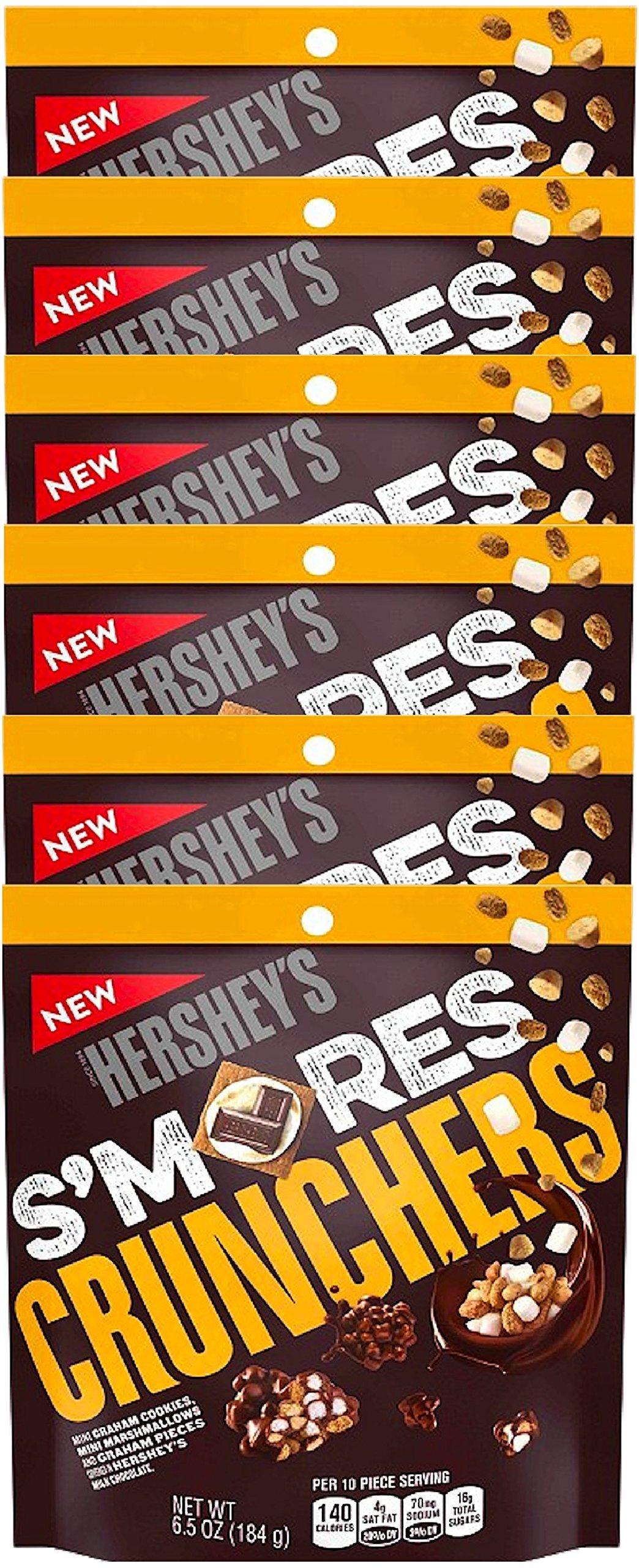 NEW Hershey's S'mores Crunchers Mini Graham Cookies Mini Marshmallows Covered In Hershey's Chocolate Heaven- 6.5oz (6)