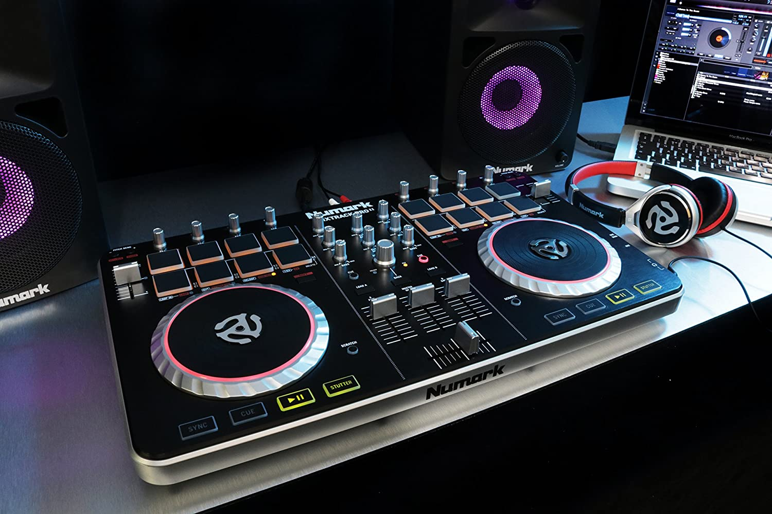 numark mixtrack pro ii usb dj controller with integrated audio interface and trigger pads. Black Bedroom Furniture Sets. Home Design Ideas
