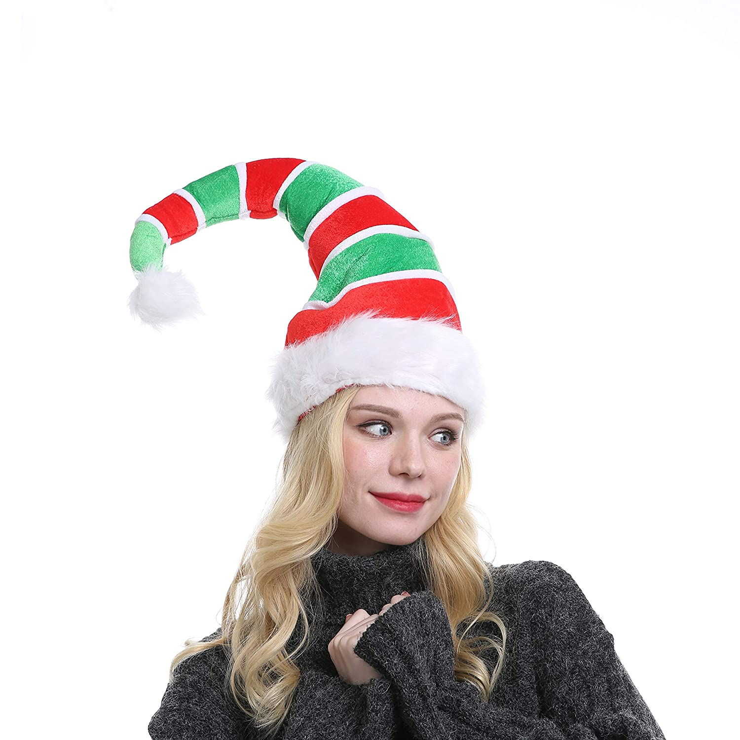 04e7f322462 Amazon.com  Funny Christmas Long Elf Hat Adults Novelty Party Holiday  Headwear Xmas Ornament  Health   Personal Care