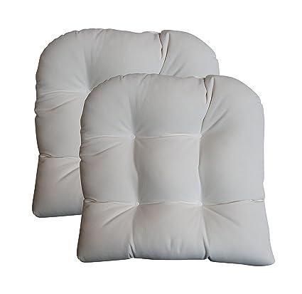 amazon com set of 2 cushions sunbrella canvas white large 21 x