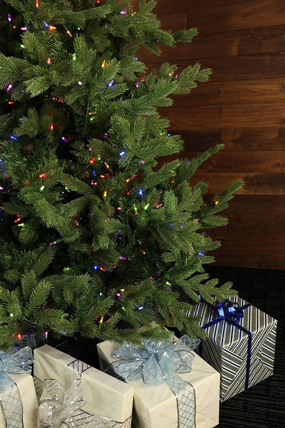 Amazon.com: 9 Ft. Foxtail Pine Christmas Tree with Multi-Color LED ...