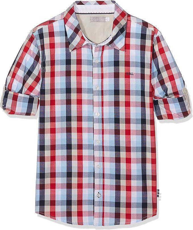 boboli, 731326 - Camisa Popelin Cuadros, color cuadros multicolor, talla 10(140cm): Amazon.es: Ropa y accesorios