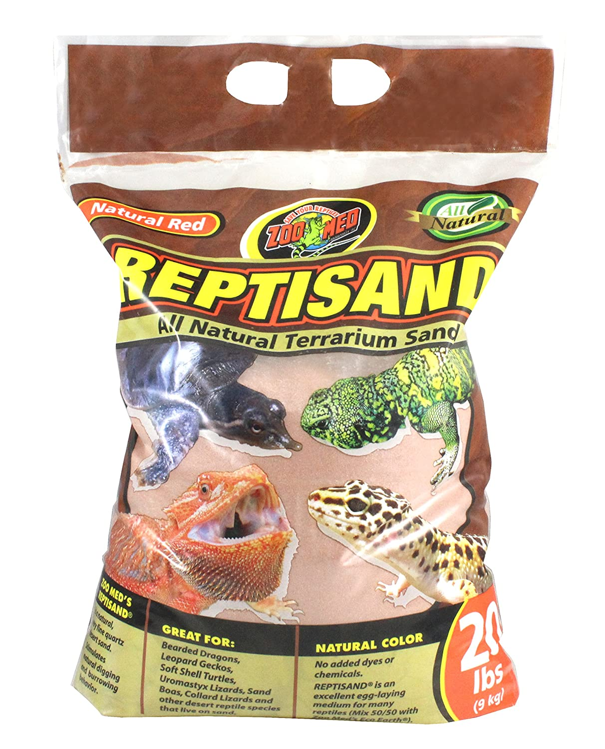 Zoo Med Reptisand Sable pour Reptile/Amphibien Natural Red 9 kg 976803