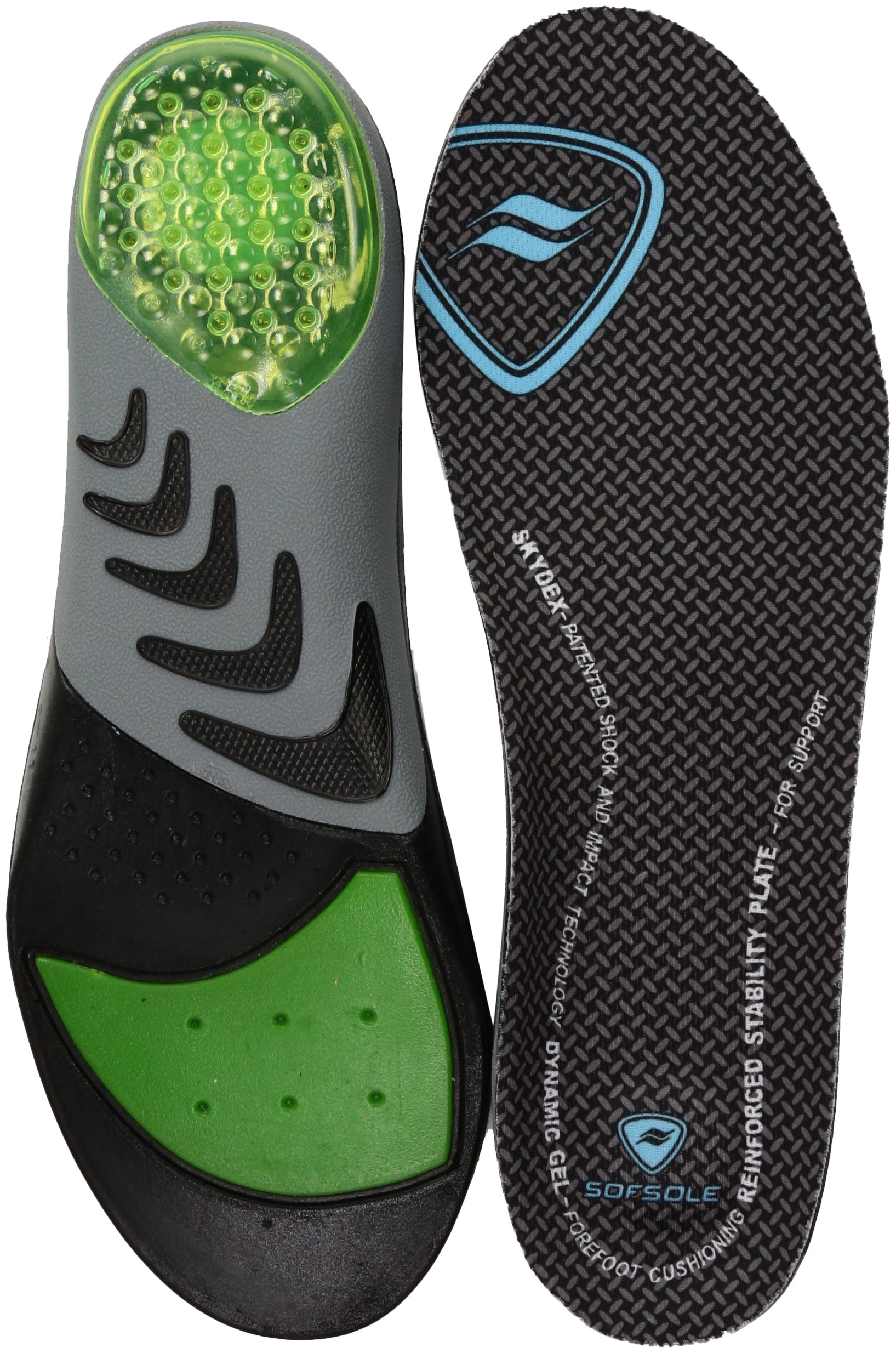 Sof Sole Airr Orthotic Full Length Performance Shoe Insoles, Black, Women's 8-11