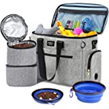 Pet Travel Bag for Supplies Airline Approved Dog Travel Diaper Bag with Locking Safety Zippers Ideal Dog Travel Kit for A Per