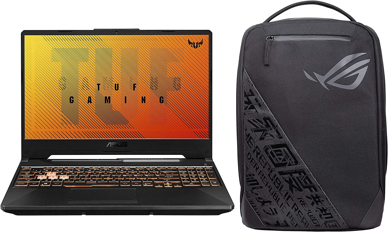 "ASUS TUF Gaming A15 Laptop 15.6"" FHD AMD Ryzen 7 4800H, GTX 1650 4GB GDDR6 Graphics (16GB RAM/1TB HDD + 256GB NVMe SSD/Windows 10/Bonfire Black/2.30 Kg), FA506IH-BQ182T"