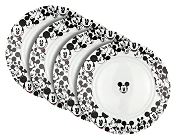 amazon com disney all over mickey salad plate set of 4 salad plates