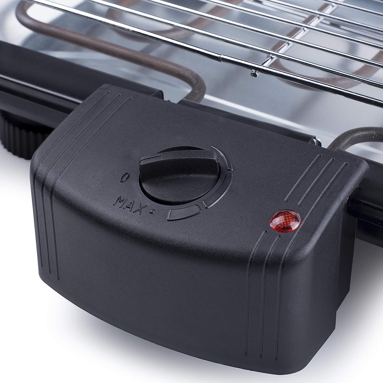 Tristar BQ-2813 Barbacoa eléctrica, 2000 W, Plástico, Negro