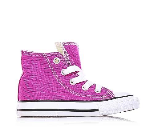 CONVERSE - Zapatillas deportivas color fucsia con cordones, en tela, Niña, Niñas: Amazon.es: Zapatos y complementos