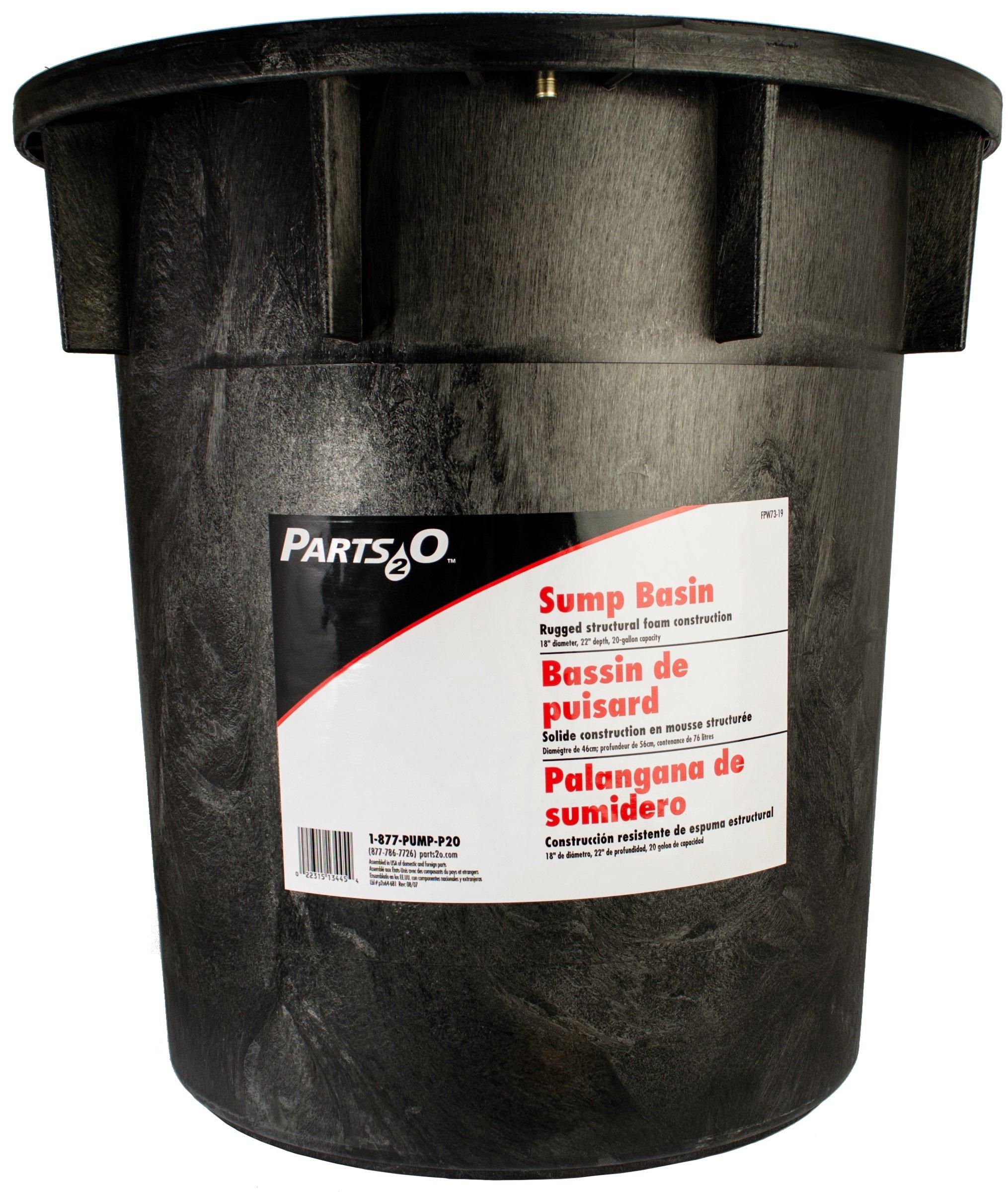 Parts2O FPW73-19 18-Inch Sump Basin