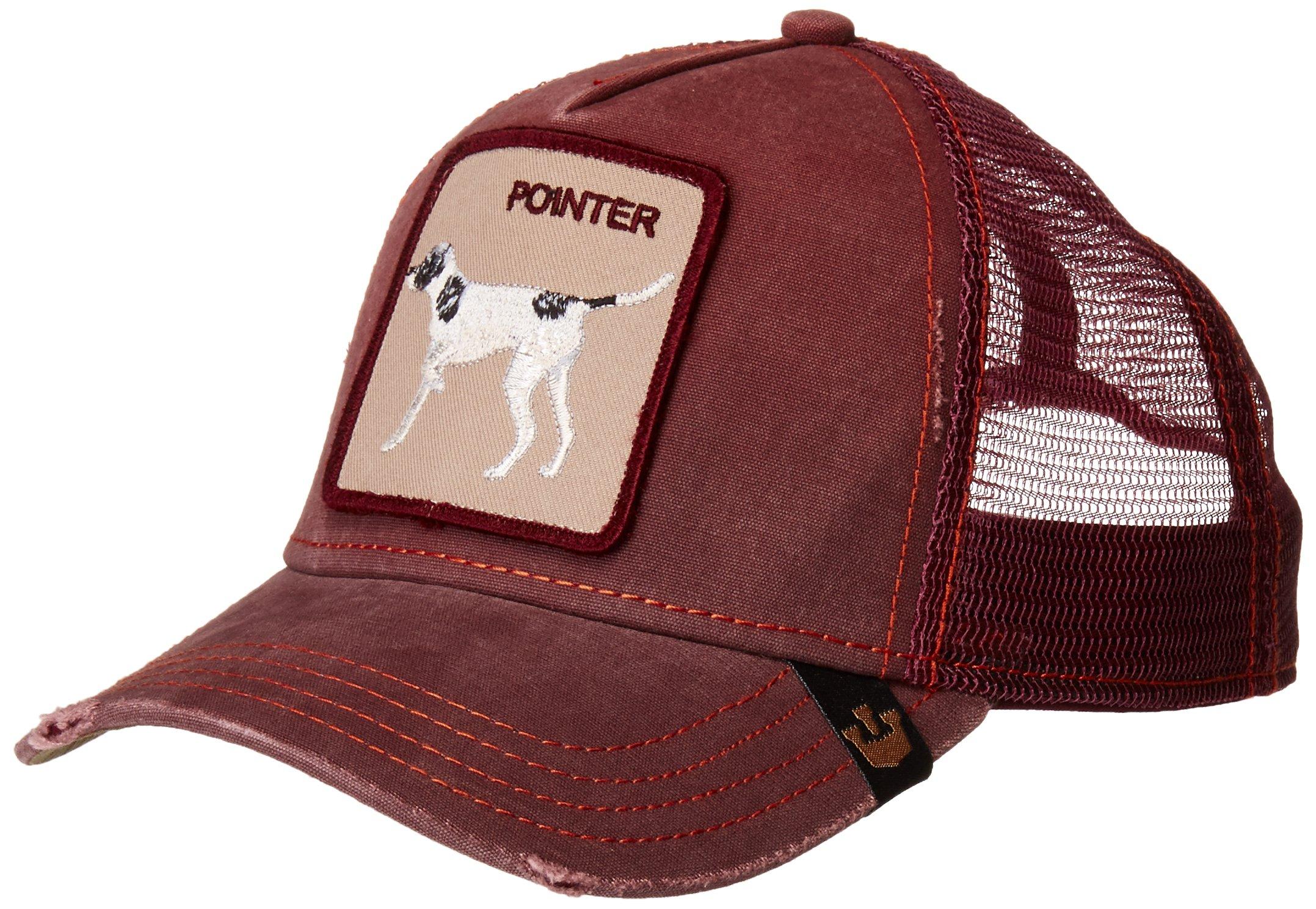 Goorin Bros. Men's Animal Farm Trucker Hat, Maroon Pointer, One Size