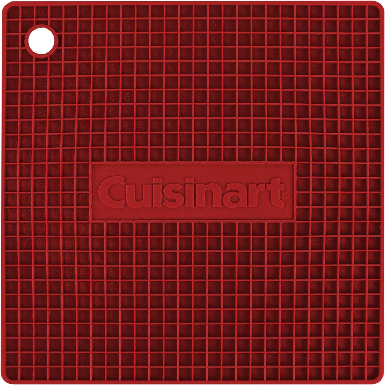 Cuisinart Multipurpose Silicone Kitchen Tool, Trivet/Pot Holder, Spoon Rest, Jar Opener, Coaster, Heat Resistant Pad, Black 142-9778-8