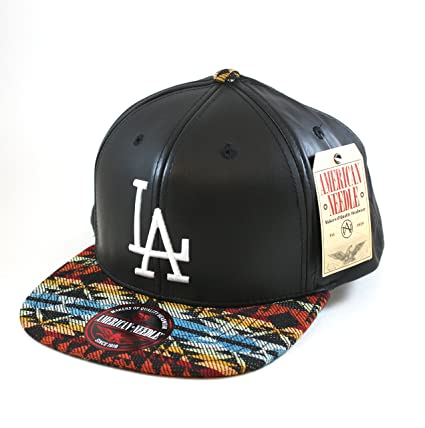 e610b1ed49b Amazon.com   MLB Brooklyn Dodgers Faux Leather and Native Print Snapback Cap  by American Needle   Sports   Outdoors