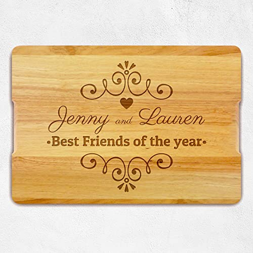 best friend personalized gift christmas gift wood custom cutting board best friend gift - Best Friend Christmas Gifts