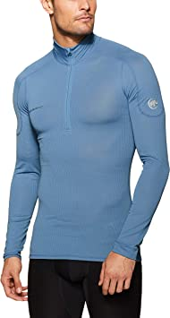 Mammut Camiseta Manga Larga GO Dry Zip Hombre Cloud - Camiseta, Hombre, Azul - (Cloud): Amazon.es: Deportes y aire libre