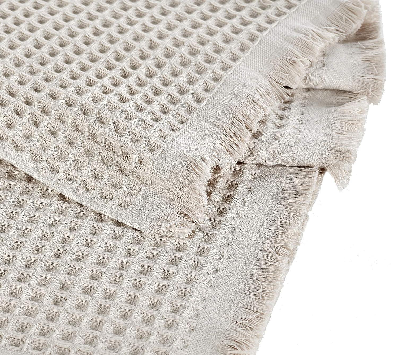 Ultra Soft Turkish Bath Towel 35 x 70 Bamboo /& Turkish Cotton Blend Brown Arvec Turkish Waffle Weave Bath Sheet Towel