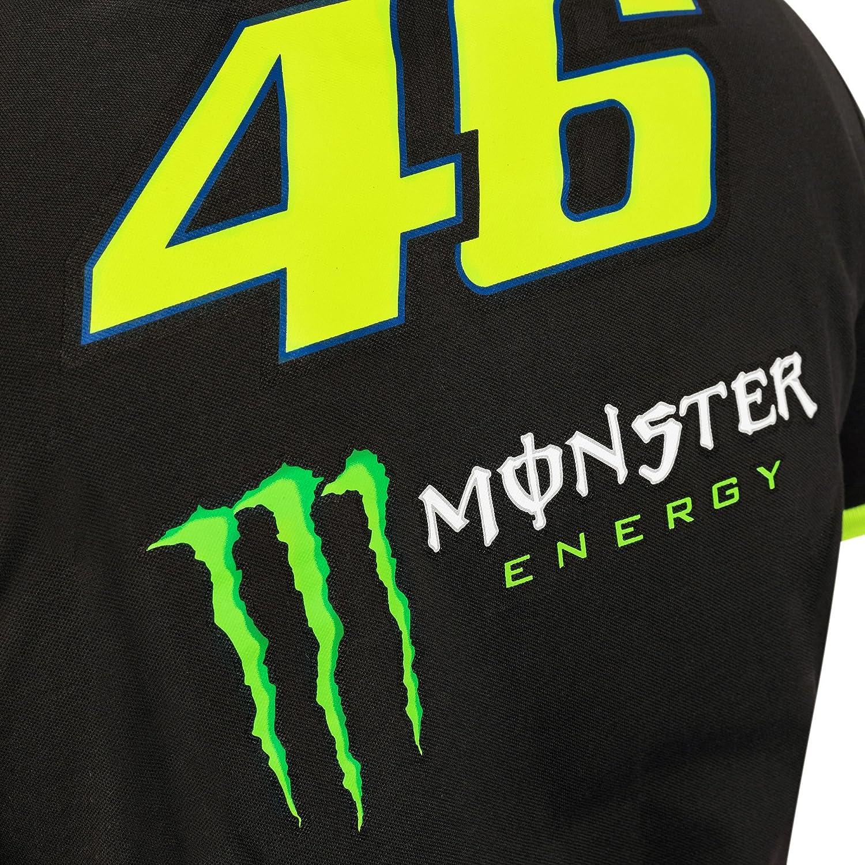 Valentino Rossi VR46/Yamaha MotoGP Polo pour Homme Officielle Noir Line Gamme