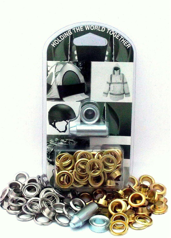 BP 12 P00 Kit de Reparaci/ón de Pl/ástico Transparente con Ojales y Arandelas de 12mm 10 unidades