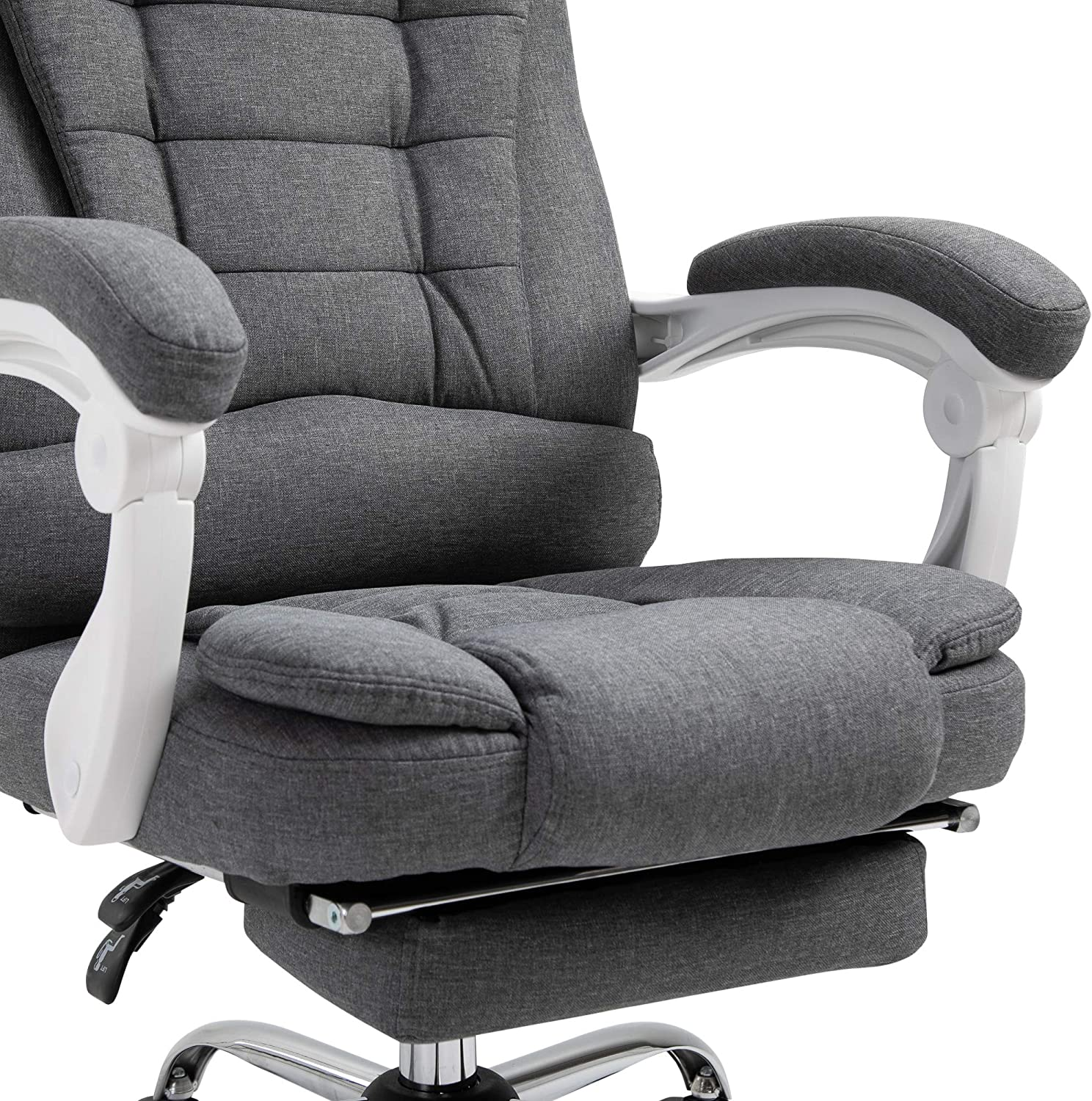 Vinsetto Office Chair Computer Swivel Rolling Task Chair with Retractable Footrest /& Height Adjustable Comfortable with Armrests
