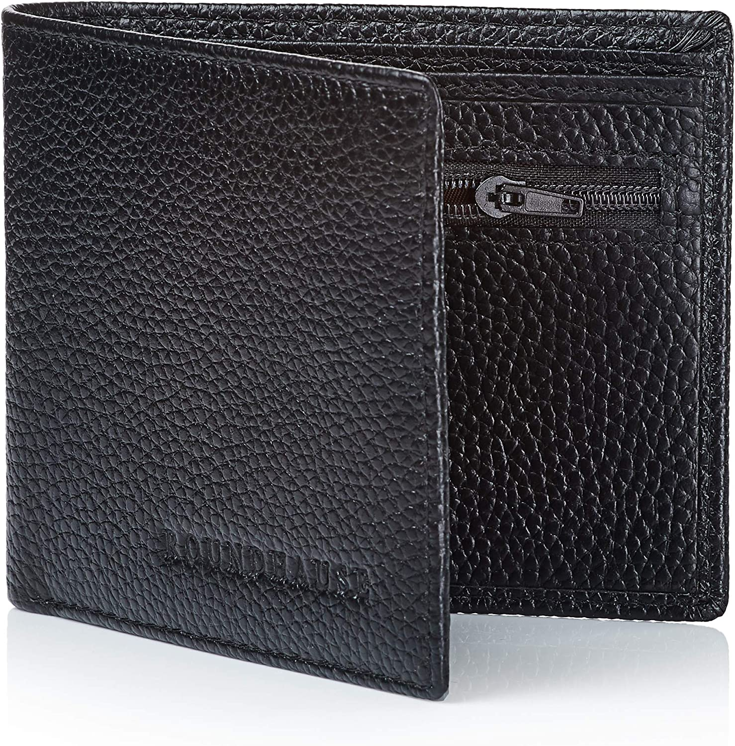 Stylish Men's RFID 100/% Real Carbon Fibre Top Grain Leather Coin ID Card Wallet