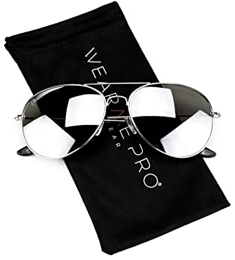 98caa79c0fc Aviator Full Silver Mirror Metal Frame Sunglasses  Amazon.in  Clothing    Accessories