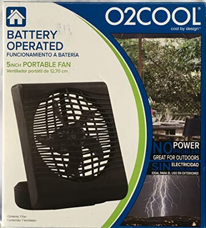 "The all new portable 5"" Fan from O2COOL"