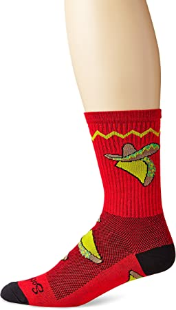 SockGuy Classic Busted Sock Black//Red Stripe SM//MD