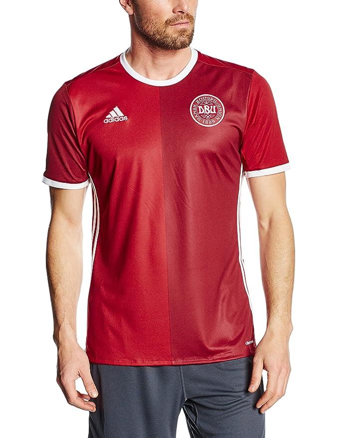 Adidas 2ª Equipación Selección de Fútbol de Dinamarca - Camiseta Oficial: Amazon.es: Deportes y aire libre