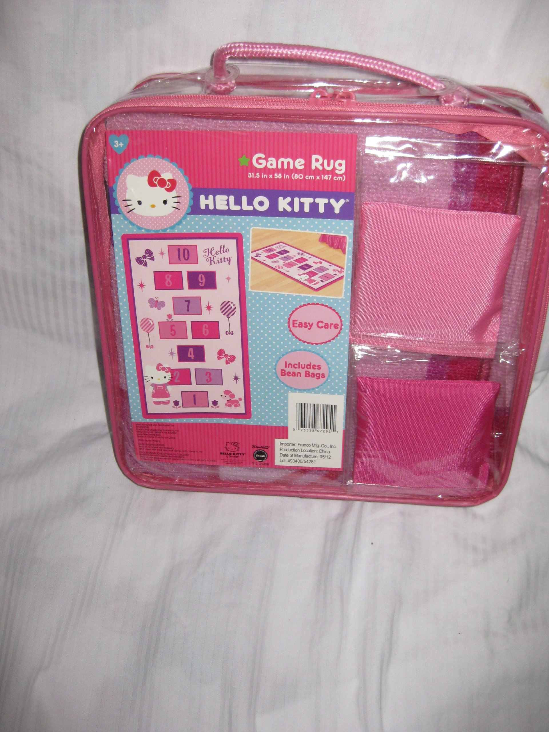 Galleon Hello Kitty Hopscotch Game Rug Includes Bean