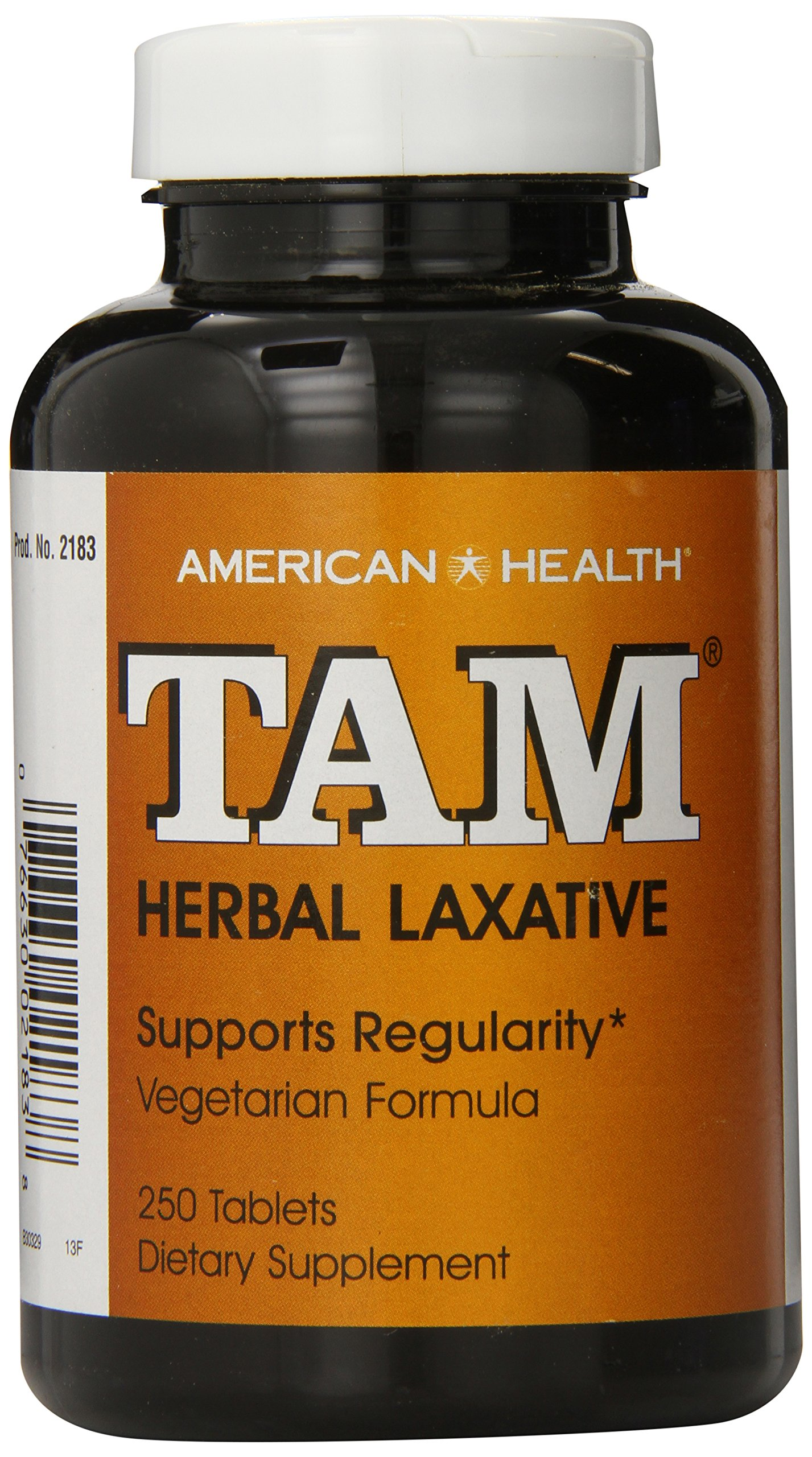 American Health Dietary Fiber Supplements, Tam Herbal Laxative, 250 Count