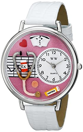 Whimsical Watches Unisex US0620047 Nurse Analog Display Japanese Quartz White Watch