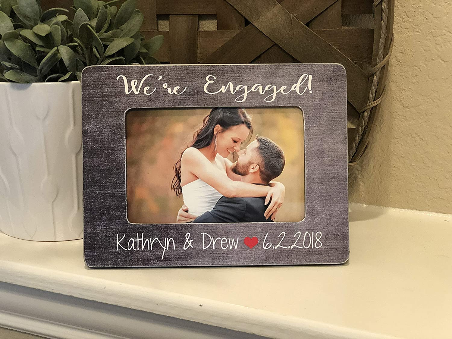 com engagement gift personalized engagement frame