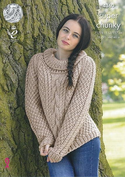 Amazon King Cole Ladies Super Chunky Knitting Pattern Round