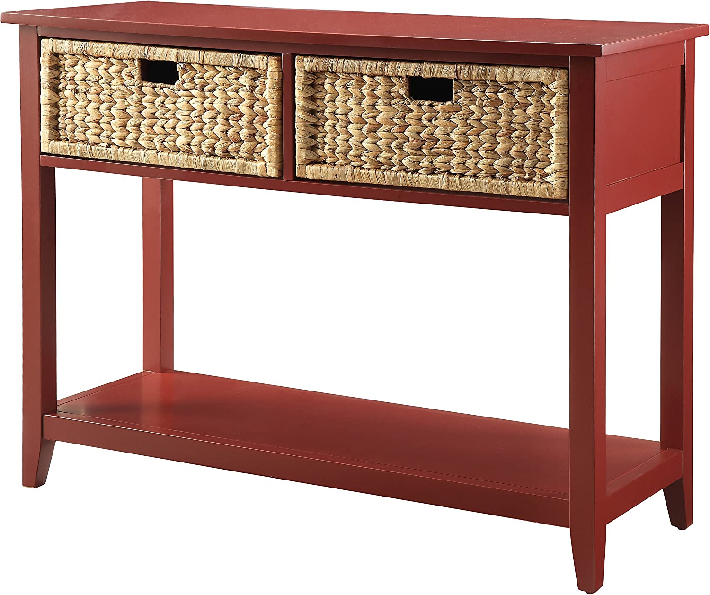ACME Flavius Burgundy Console Table