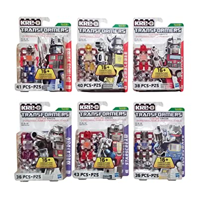 Transformers Kre-O Custom Kreons Collection 1 Bundle 6 Pack Includes: Optimus Prime, Bumblebee, Iron Hide, Megatron, Starscream & Soundwave (1 of Each): Toys & Games